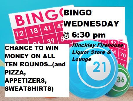 Bingo promo image Firehouse Liquor Store Hinckley MN