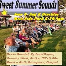 Outdoor summer concert image at West Side Park Hinckley MN
