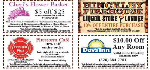 discount coupons for Hinckley MN stores