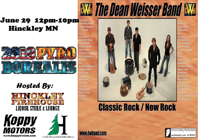 Dean Weisser Band at 2019 Pyro Borealis Hinckley MN