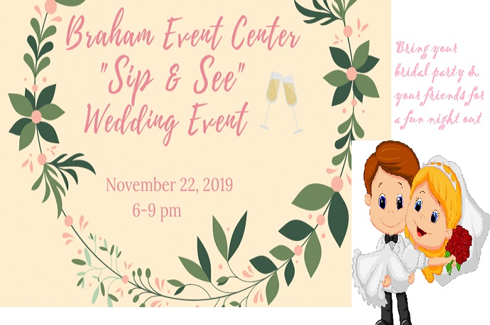 Free wedding party event at Braham Event Center