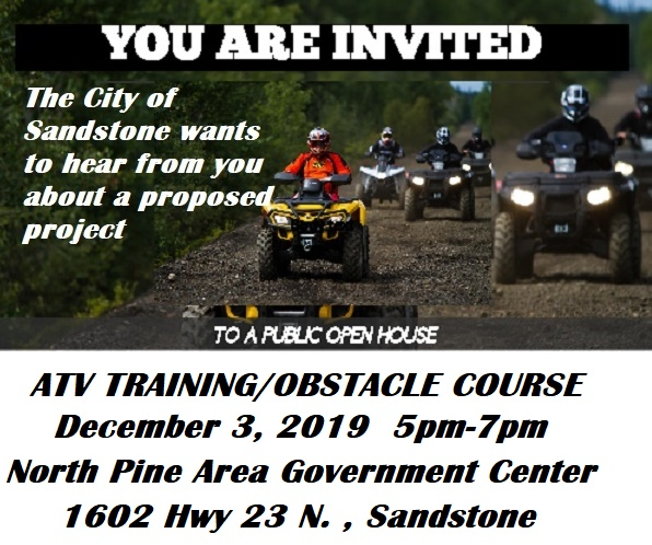 Public Open House Sandstone ATV Training Project