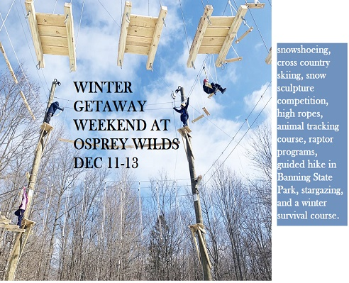 WINTER ACTIVITIES, SNOWSHOEING, GETAWAY,, OSPREY WILDS