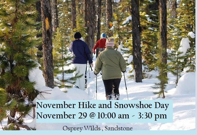 hike, snowshoe, Osprey Wilds, winter
