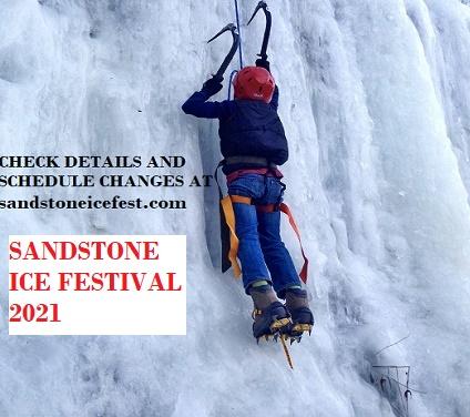 ICE FESTIVAL, SANDSTONE, ICE CLIMBING