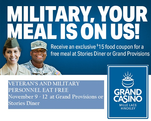 veterans, military, restaurants, casino