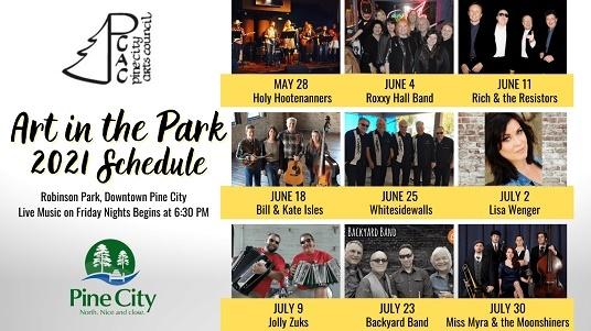 art, music, events, Pine City MN