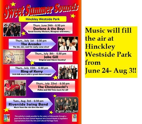 summer, music, westside, concerts, hinckley