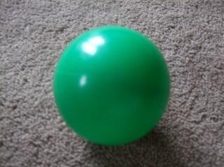 green plastic 'ball pool' ball