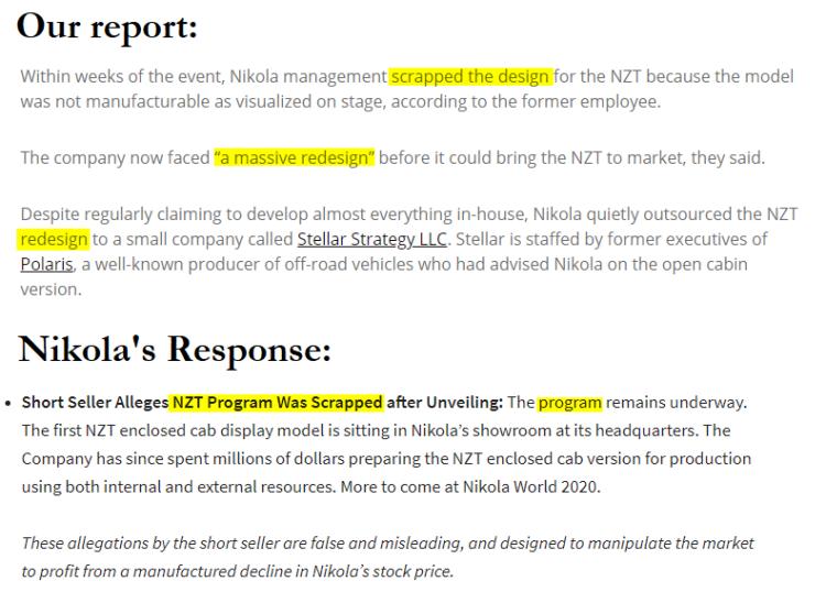 nikola's response