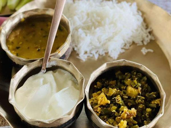 लंच में लेती हैं दाल, सब्जी और चावल