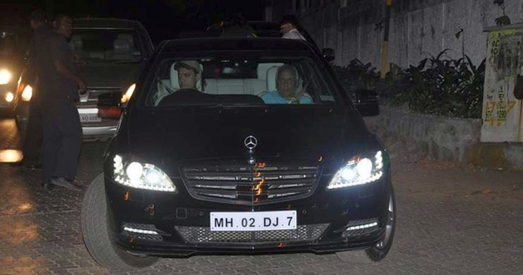 Aamir Khan driving his customised Mercedes-Benz S600