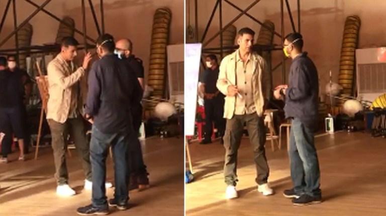 Exclusive: अक्षय कुमार ने शुरू की शूटिंग, VIDEO में टीम के साथ सेट पर आए नजर
