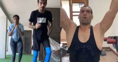 Yuzvendra Chahal did workout, fan said – 'Take training from Great Khali not from Dhanashree'