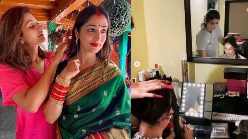 yami gautam did not go parlor instead got ready at home for her wedding video viral |  Yami Gautam did not spend any makeup on her wedding, see how she got ready in the video