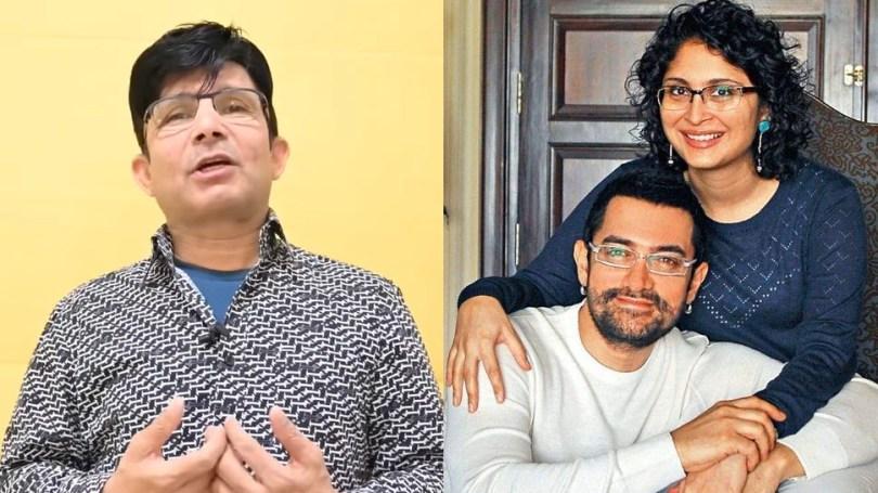 Kamal R Khan Reacts to Aamir Khan Kiran Rao Divorce Takes a Toll on Actors Personal Life |  Kamal R Khan's video on Aamir Khan's personal life, said- I thought Katrina or Fatima would do it