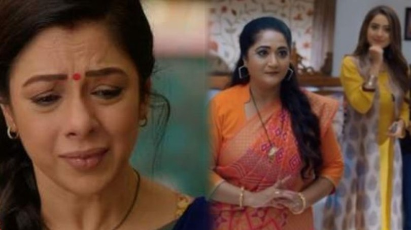 Anupama Spoiler Alert Anupama will cry as paritosh and kinjal leave, kavya does makeover of ba    Kinjal will leave the house after making Anupama cry, taking advantage of the opportunity, Kavya will apply butter to Baa