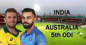 IND vs AUS 5th ODI Match Live Score Update: ऑस्ट्रेलिया ने जीता टॉस, पहले बल्लेबाजी का फैसला