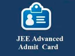 jee advanced admit card 2019