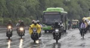 weather chances of storm rain and hail fall in delhi and surrounding areas