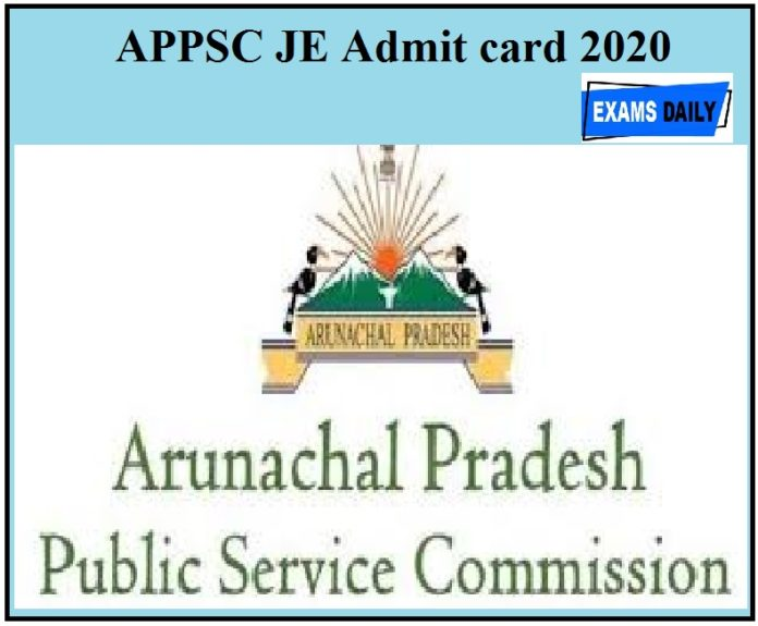 APPSC JE Admit card 2020