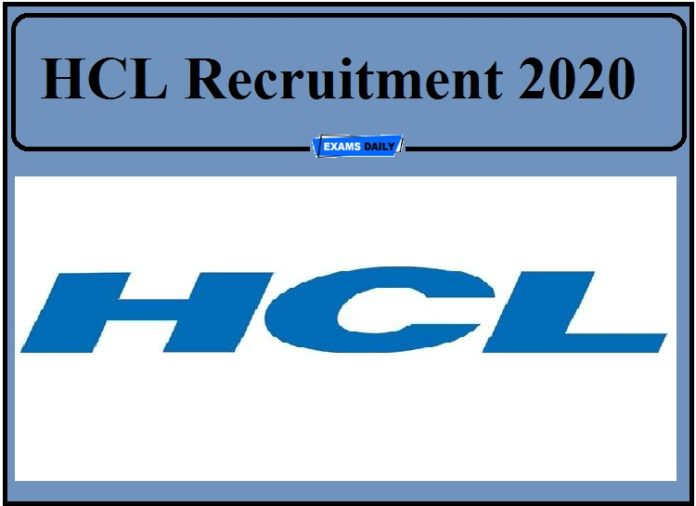 HCL Recruitment 2020 Out- Freshers Can Apply!!!