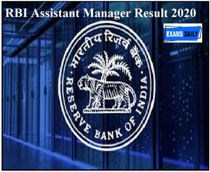 RBI Assistant Manager Result 2020