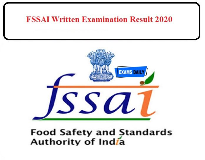 FSSAI Written Examination Result 2020 Released