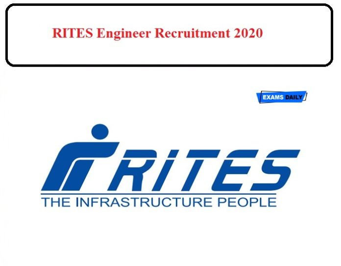 RITES Limited Engineer Recruitment 2020