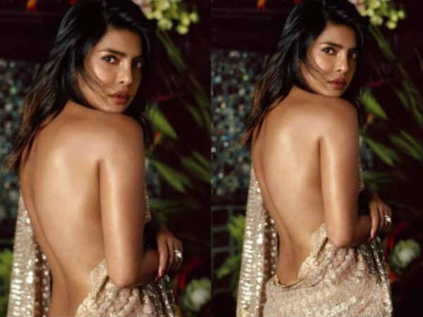 Saree photoshoot without blouse