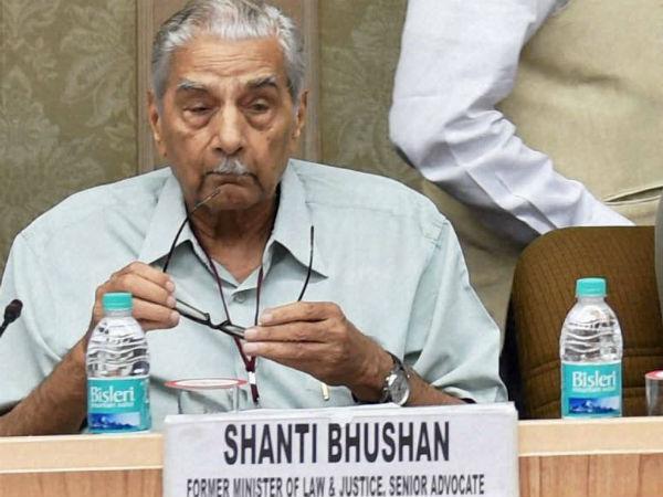 शांति भूषण हुए अशांत, केजरीवाल को बताया हिटलर | Shanti Bhushan hits out at Kejriwal, asks why doesn't AAP expel him - Hindi Oneindia