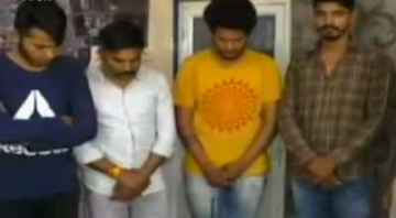Four Youth throw petrol bomb on wine shop in indore MP