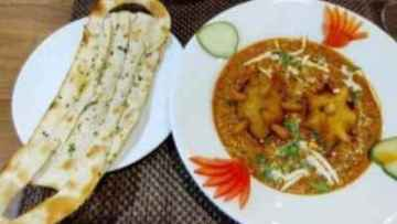 Covid curry and mask naan in Jodhpur restaurant
