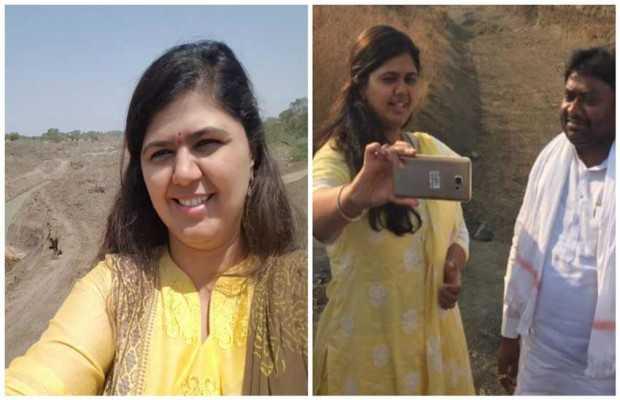लातूर में सेल्फी लेकर विवादों में फंसी पंकजा मुंडे