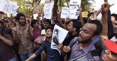 delhi university protest