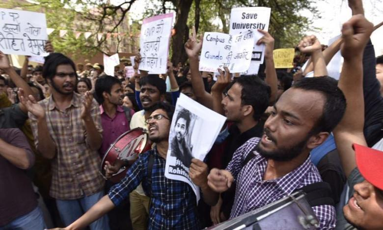 delhi university protest