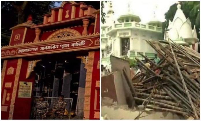 गिराया गया हिन्दू मंदिर