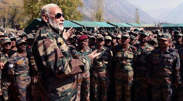 नरेंद्र मोदी, भारतीय सेना