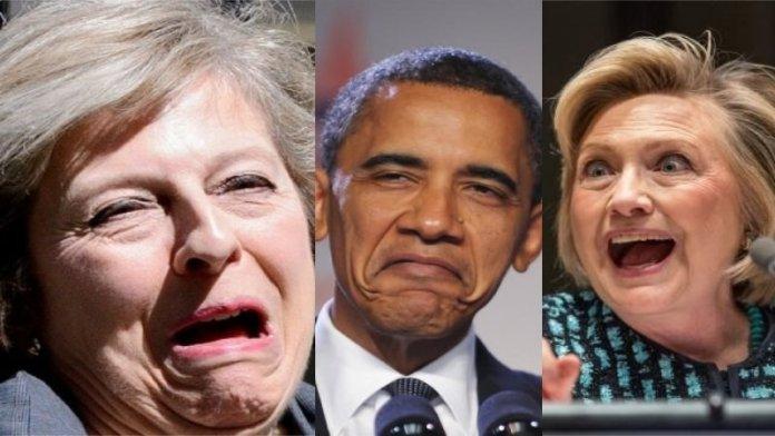 थेरेसा में, बराक ओबामा, हिलेरी क्लिंटन