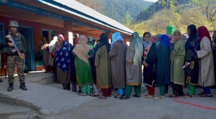अनंतनाग में मतदान