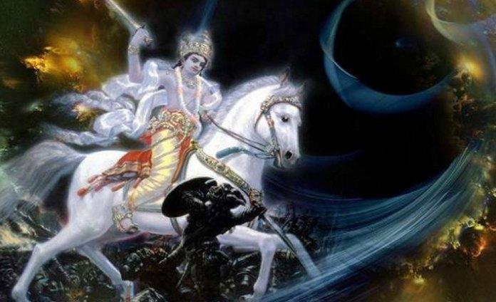 भगवान कल्कि का एक प्रतीकात्मक चित्र