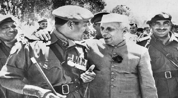 जवाहरलाल नेहरू, भारतीय सेना