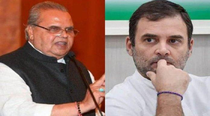 राज्यपाल की चुनौती के जवाब में लाव-लश्कर के साथ कश्मीर पहुँच रहे हैं राहुल गाँधी