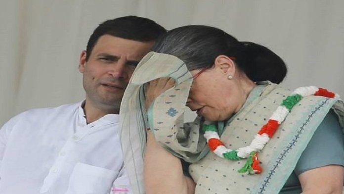 राहुल के साथ सोनिया गॉंधी
