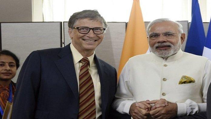 बिल गेट्स, नरेंद्र मोदी