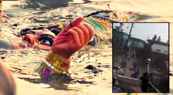दुर्गा प्रतिमा विसर्जन