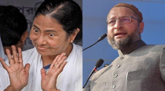 ममता बनर्जी, असदुद्दीन ओवैसी