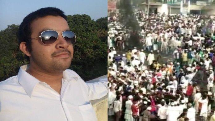 मुस्लिम भीड़ उत्पात