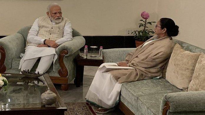 ममता बनर्जी, नरेंद्र मोदी