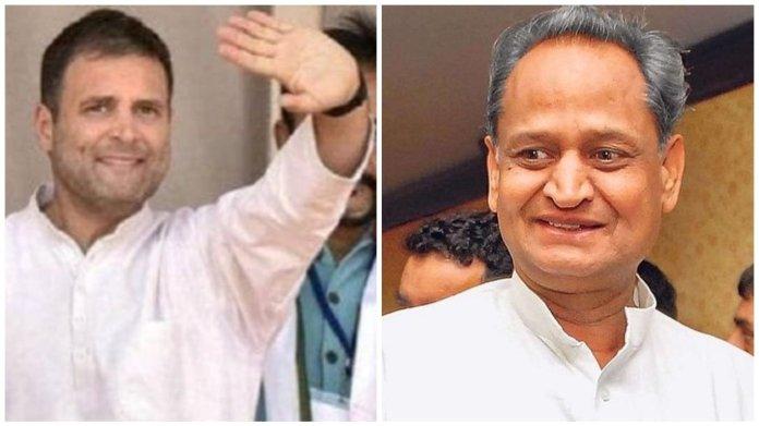राहुल गाँधी, राजस्थान, अशोक गहलोत